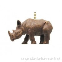 African Safari Rhino Rhinoceros Ceiling Fan Light Pull - B01N2JVM97