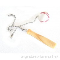 Baseball & Bat Ceiling Fan Pull Set by Wooden Androyd Studio - Nursery Kid's Room Decor Gift for Coaches or Kids. - B01NABTPJA