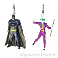 Batman & Joker Wonder Woman Superman Justice League Ceiling Fan Pull Set by Wooden Androyd Studio - Kids Room Nursery Decor Man Cave Gift for Kids DC Comics Fans. (Batman Standing & Joker) - B072TKJDSC