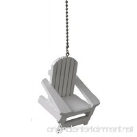 Beach ocean theme Ceiling FAN PULL light chain extender (White Adirondack Beach Chair) - B013TIKL5S