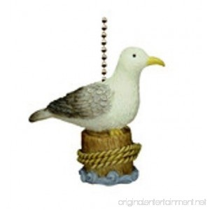 Coastal Beach Decor Seagull Ceiling Fan Light Pull - B002KTLIFA