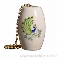 Fancy Peacock Porcelain Fan/Light Pull - B00B6YJKI2