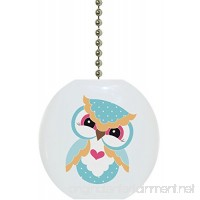 Heart Owl Solid Ceramic Fan Pull - B0719N96KN