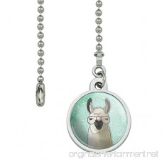 Hip Llama with Glasses Ceiling Fan and Light Pull Chain - B073X4YTBG
