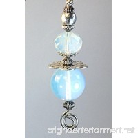 Luminous Opal Smooth Moonstone Glass and Metal Disk Flower Light or Ceiling Fan Pull Chain - B00XRRAQN4