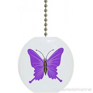 Purple Butterfly Solid CERAMIC Fan Pull - B00A3IWGVK