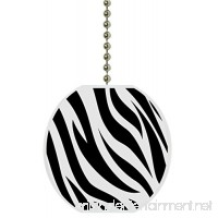 Zebra Print Animal Skin Ceramic Fan Pull - B00QUF2ARK