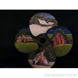 Gatton Hand Painted Metal Fan Blade - B07F756TB3