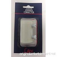 "1/2"" Ceiling Fan Downrod Coupler Connector  Bright White - B072JNHW4Y"