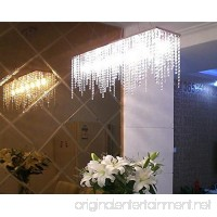 "7PM Modern Linear Rectangular Island Dining Room Crystal Chandelier Lighting Fixture (Medium L32"") - B015XX1A6G"