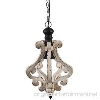 A&B Home Harper 1-Light Wood & Metal Chandelier 1 12.5 x 12.5 x 21 - B0759SGLXZ