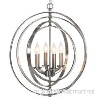 "Best Choice Products 18"" 4-Light Sphere Pendant Chandelier Lighting Fixture (Brushed Nickel) - B0772Z68XK"