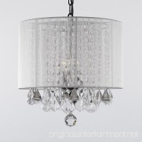 Crystal Chandelier Chandeliers With Large White Shade! H15 x W15 - B00842ZCPO