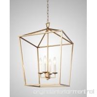Darlana Openwork Lantern Pendant Stairway Entry Kitchen Hall Foyer Fixture Chandelier (Gold) - B075DX6PR6