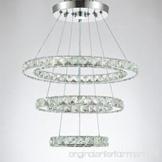 Dixun Modern Crystal Chandeliers LED Chandelier Pendant Lights Chandelier Rings Pendant Light 20/30/40cm(8/12/16 inches)(Cool White 20/30/40) - B077L1T9F3