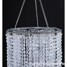 FlavorThings 2 Tiers 20.5 Tall Clear Beaded Hanging Chandelier Great idea for Wedding Chandeliers Centerpieces Decorations and Any Event Party Decor (Clear) - B074M8PVTG