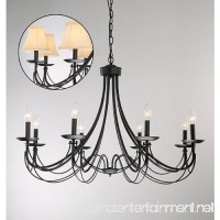 Iron 8-light Black Chandelier - B00E9NQ69S