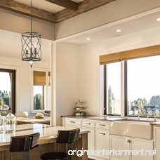 Kira Home Eleanor 13 3-Light Foyer Light Chandelier + Metal Shade Oil-Rubbed Bronze Finish (Contains Minimal Blemishes/Inconsistencies) - B075THNKBM