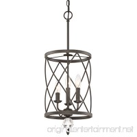 "Kira Home Eleanor 13"" 3-Light Foyer Light Chandelier + Metal Shade  Oil-Rubbed Bronze Finish (Contains Minimal Blemishes/Inconsistencies) - B075THNKBM"