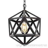 "Kira Home Trenton 16"" Industrial Black Wrought Iron Metal Chandelier - B01M7PXOJH"