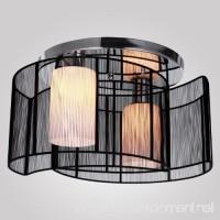 LightInTheBox Black Semi Flush Mount with 2 Lights Mini Style Chandeliers Modern Ceiling Light Fixture for Hallway Dining Room Living Room - B008710JQE
