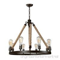 LNC Vintage Chandeliers 8-Light Kitchen Island Chandelier Lighting Rustic Pendant Lighting - B01E5CC1BE