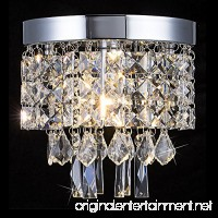 Mini Style Crystal Chandelier 1 Light Modern Flush Mount Ceiling Light W7.9 X H7.9 Chandelier Lighting Fixture for Banquet Hall Kitchen Hallway Bar Dining Room Bedroom - B0772DG98T