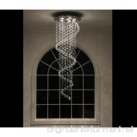 Modern Contemporary Swirl Chandelier Rain Drop With All Crystal Balls for Foyer Dining Room Kitchen D20'' X H61'' Of CYSTOP - B00NGCAHNY