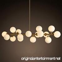 Modern Modo 16 Round Glass DNA LED Chandelier Pendant Lamp Ceiling lamp Fixture (Gold) - B0791G5YL7