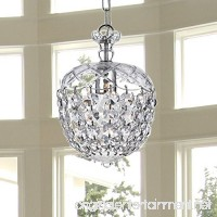 Saint Mossi Chandelier Modern K9 Crystal Raindrop Chandelier Lighting Flush mount LED Ceiling Light Fixture Pendant Lamp for Dining Room Bathroom Bedroom Livingroom 1 E12 Bulb Required H12 X D8 - B01KBO7M6E