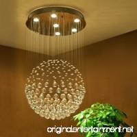Saint Mossi Chandelier Modern K9 Crystal Raindrop Chandelier Lighting Flush mount LED Ceiling Light Fixture Pendant Lamp for Dining Room Bathroom Bedroom Livingroom 6 GU10 LED Bulbs Required H32 X D18 - B01AA8Q0R8