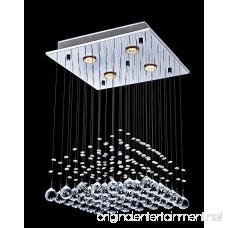 Saint Mossi K9 Crystal Rain Drop Chandelier Modern & Contemporary Ceiling Pendant Light H22 X W16 X L16 - B010077P3C