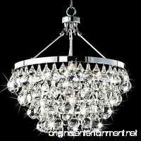 Saint Mossi Modern K9 Crystal Raindrop Chandelier Lighting Flush mount LED Ceiling Light Fixture Pendant Lamp for Dining Room Bathroom Bedroom Livingroom Umbrella-shaped 4 E12 Bulbs Required H39 X D18 - B01KBO7D5Y