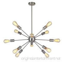 Sputnik Chandelier 12 Lights Modern Pendant lighting Brushed Nickel Industrial Vintage Ceiling Light UL Listed By VINLUZ - B074FVS4QH