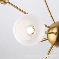 Sputnik Chandelier 6 Lights Modern Pendant Lighting Brushed Brass Ceiling Light Fixture [UL LISTED] - B01N51M9UU