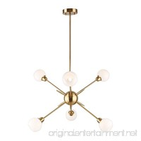 Sputnik Chandelier 6 Lights Modern Pendant Lighting  Brushed Brass Ceiling Light Fixture  [UL LISTED] - B01N51M9UU