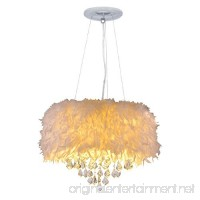 Surpars House White Feather Crystal Chandelier 4-Light Pendant Light - B071Y22318