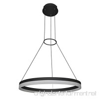 "VONN VMC31650BL Modern/Contemporary 24 inch Led Chandelier  Adjustable Suspension Fixture  Modern Circular Chandelier Lighting  Tania Collection  23.63"" x 23.63"" x 120.06""  Black - B01HDSU8CG"