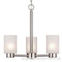 "Westinghouse 6227500 Sylvestre Three-Light Interior Chandelier  Brushed Nickel Finish with Frosted Seeded Glass  18.25"" x 18.25"" x 17.63"" - B00CQODILG"