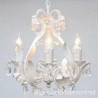 White Wrought Iron Floral Chandelier Crystal Flower Chandeliers Lighting H15 X W11 - Perfect for Kids' and Girls Bedrooms! - B004H98RNW