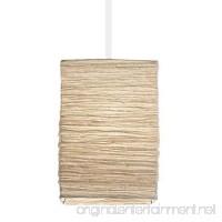 Asian Rice Paper Lantern Pendant Lamp Shade Kit with 15.5' Plug-in Light Socket Cord White - B01AGYTR58