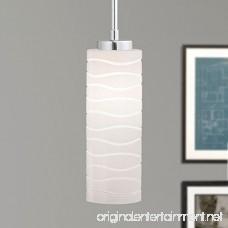 Avellina One-Light Pendant Lamp Carved Opal Glass - Linea di Liara LL-P828 - B00NC9OD6S