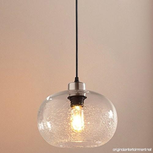 Casamotion Pendant Lighting Handblown Seeded Glass Drop