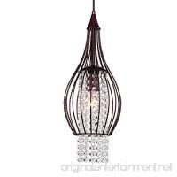 Crystal Chandelier Pendant Lighting 1 Light Rustic Bronze Kitchen Island Ceiling Light Fixture - B074M6V2DT