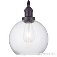 Dazhuan Industrial Vintage Bubble Glass Pendant Light Ceiling Fixture Hanging Lighting - B01M72H49W