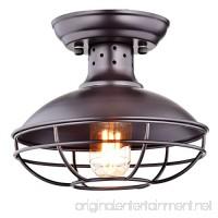 Dazhuan Industrial Vintage Metal Cage Pendant Lighting Semi Flush Mount Ceiling Light Lamp Fixture ORB Hanging Chandelier - B01HTC278O