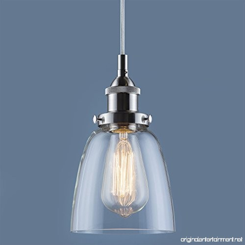 Fiorentino Brushed Nickel Pendant Light W Clear Glass