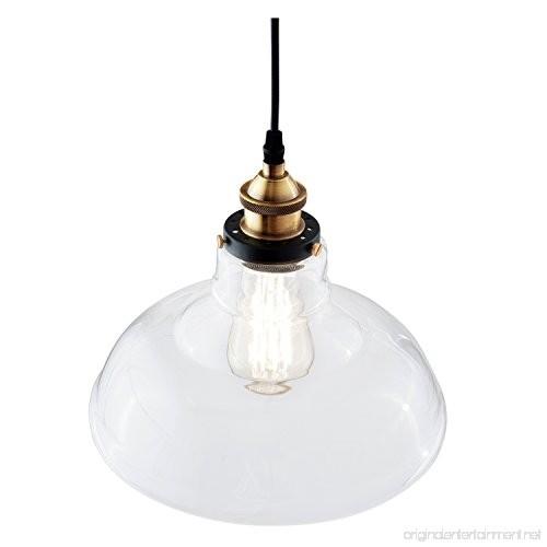 Light Society Classon Edison Pendant Light Clear Glass