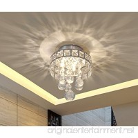 Mini Style 3-Light Chrome Finish Crystal Chandelier Pendent Light for Hallway Bedroom Kitchen Kids Room 3x1W LED Bulb Included - B01L12JU5Q