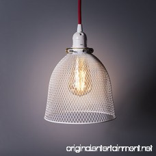 Rustic State Industrial Retro Style Mesh Wire Cage for Pendant Ceiling Lamp (White) - B0786X9FBH